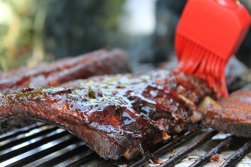 Carnival Barbecue ribs with a glaze